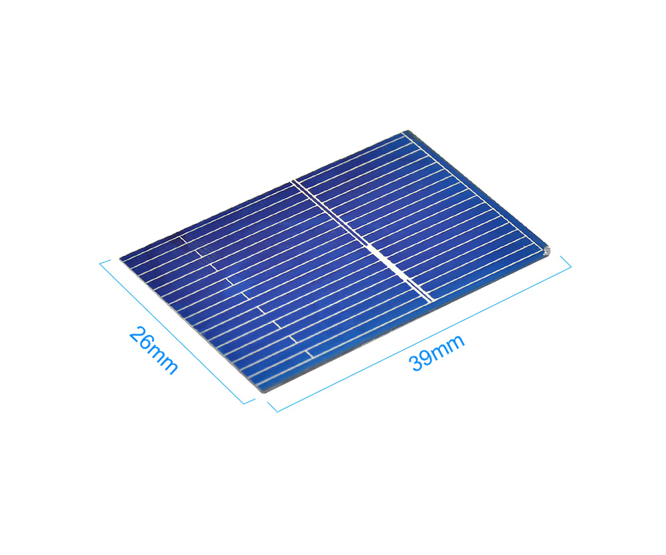 Aoshike 100pcs Polycrystalline Solar Panel 0.5V 0.17W 39x26mm Sunpower Solar Cell photovoltaic panels DIY Solar Battery Charger 4
