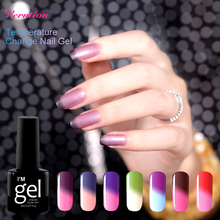Verntion 29 colors Thermal Nail Gel Polish New Design UV Nail art Temperature Changing Color UV Cheap Gel Polish Varnish