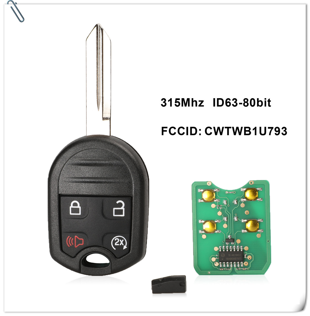 Car Key Fob Keyless Entry Remote 5Btn For 2008 2009 2010 Lincoln Navigator