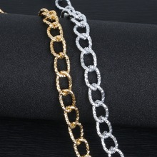 3m/lot 14x19mm Gold/Silver Plated Aluminum Twisted Chian Necklace Chains for Jewelry Making(China)