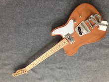 Free shipping cost customized TL electric guitar with Bigby bridge nature