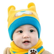 Cute Baby Girls Boy Toddler Winter Warm Knitted Cute Crochet Hat Tiger Pattern Cap Kids Cap(China)