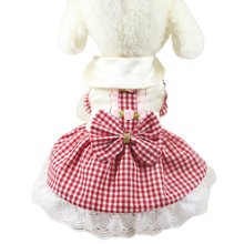 Summer Cute Wedding Dog Dress Puppy Princess Skirt Cat Clothes for Small Dog Funny Pet Costume Bowknot Floral Dresses For Dogs(China)