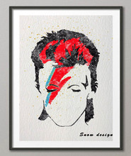 Original Watercolor David Bowie poster prints canvas painting Abstract wall art Pictures Living Room Home Decor Giclee prints