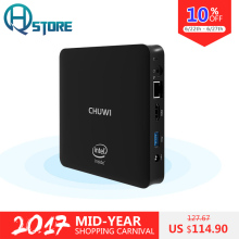 CHUWI HiBox Mini PC TV Box Intel Z8350 4GB RAM 64GB ROM Window10+Android 5.1 Bluetooth 4.0 HDMI Dual WiFi with Remote Control
