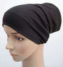 brief  elastic polyester plain comfortable tube islamic cap muslim underscarf