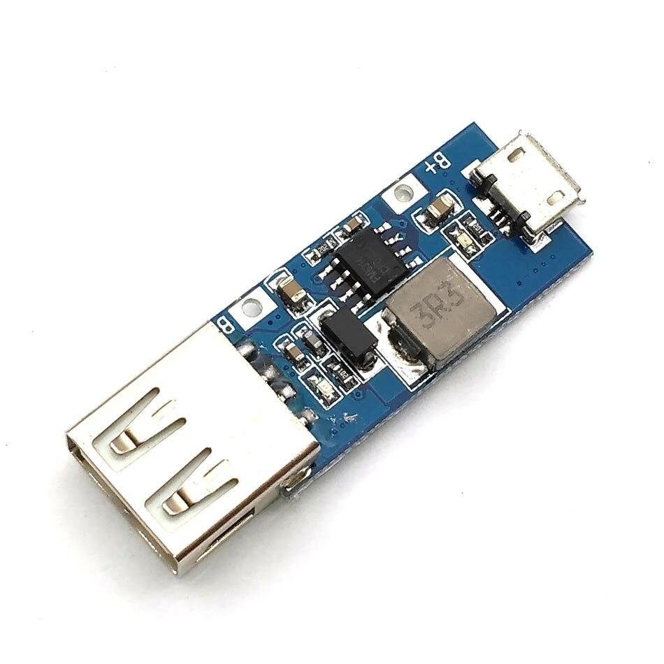 DC-DC Boost Voltage Converter 3V//3.7V//4.2V to 5V 2A Step-up LED Voltmeter USB