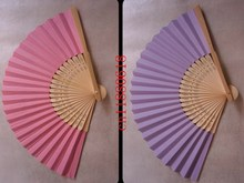 50pcs/lot Free Shipping New Wedding Paper Fan,Bride Hand Fan with bamboo ribs,Craft Fan wedding bridal shower favor party gift