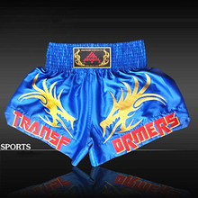 New Embroidered Double Dragon Kick Boxing Shorts for Mens Muay Thai/MMA Fight/Boxe Trunks Short Sports Clothing(China)
