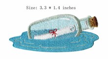 "Wishing bottle embroidery patch 3.3"" wide /floating stationery/sea/Clothing accessories(China)"