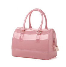 Women Fashion Handbag Silicone Jelly Bag Boutique Tote Candy Transparent Noble Feminina bag Casual Clutch
