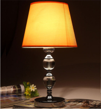 Modern Crystal Table Lamp living room bedroom Yellow / Beige / Red decoration table light