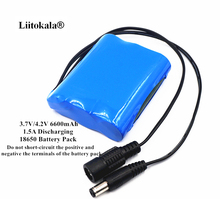 Liitokala 3.7V Battery Pack 6600mAh 18650 Battery 6.6Ah Rechargeable Batteries For CCTV/Loudspeakers/Robot/Electric Tools/Lamps