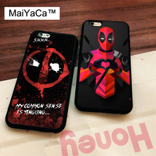 MaiYaCa DEADPOOL TATTOO WADE WILSON FUNNY Case for Apple iPhone 6S 6 TPU Case for iPhone 6 6s Soft Rubber Skin Back Covers shell(China)