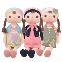 43cm new winter original Unique Gifts high quality Sweet Cute Angela doll Metoo baby plush kids style  skirt girl wholesale