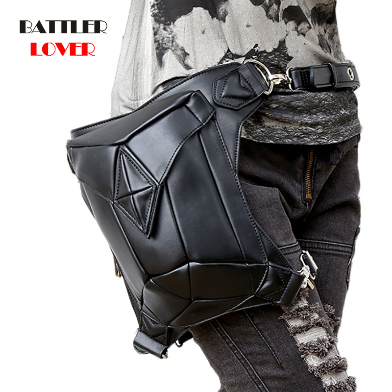 Vintage Steampunk Leather Steam Punk Retro Rock Gothic Retro Cosplay Battlegrounds Waist Bags Packs Victorian Women Mens Leg Bag