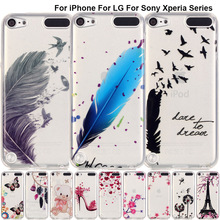 B67 Printed Pattern Rubber Case For iPhone 7 iPod Touch 6 5 Soft Silicone Back Cover Fundas For Sony Xperia XA Dual F3113 F3112