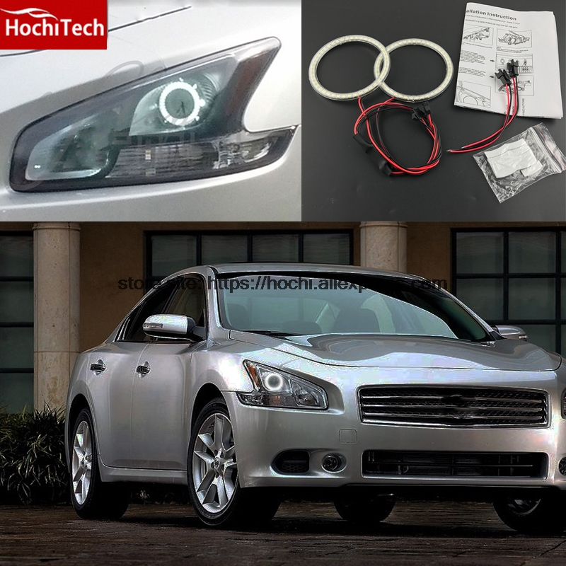 HochiTech Ultra bright SMD white LED angel eyes 2000LM halo ring kit daytime running light DRL for Nissan Maxima 2010 2011 2012<br>