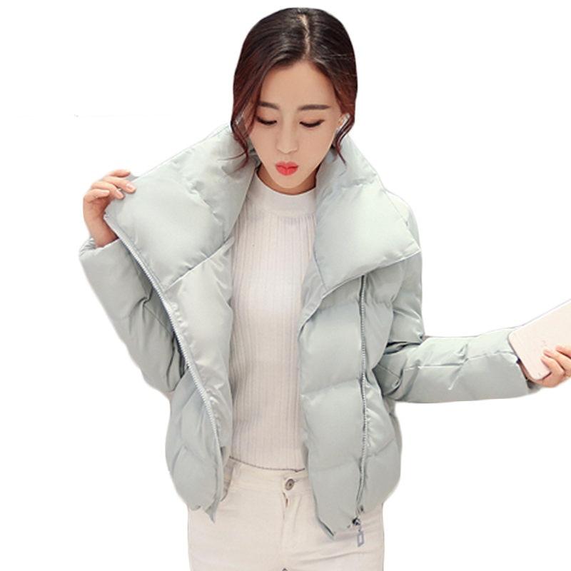 Korean New Style Woman Winter Short Coat Warm Stand Collar Zipper Padded Jacket fashion Bread Short Quilted Outerwear SS625Îäåæäà è àêñåññóàðû<br><br>