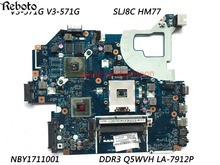 Classy Laptop Motherboard For Acer Aspire V3-571G Laptop with Chipset SLJ8C HM77 PN NBY171001 Q5WVH LA-7912P DDR3 100% Work