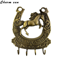 Wall ornament Home decoration horse key hook retro furniture Key hook & holder. door key finder.Gift for festival wedding