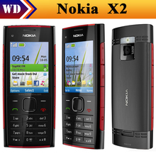 X2 Original Nokia X2-00 Bluetooth FM JAVA 5MP Unlocked Mobile Phone Free Shipping In STOCK