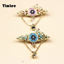 Timlee X212 Free shipping Lovely The Train Vintage Alloy Brooch Pins,Fashion Jewelry(China)