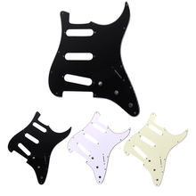 3Ply SSS Style 11 Mounting Screw Holes PVC Electric Guitar Pickguard for Protecting Electric Guitar High Quality(China)