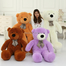 100 Cotton Light Brown Giant 100cm Cute Plush Teddy Bear Huge Soft TOY