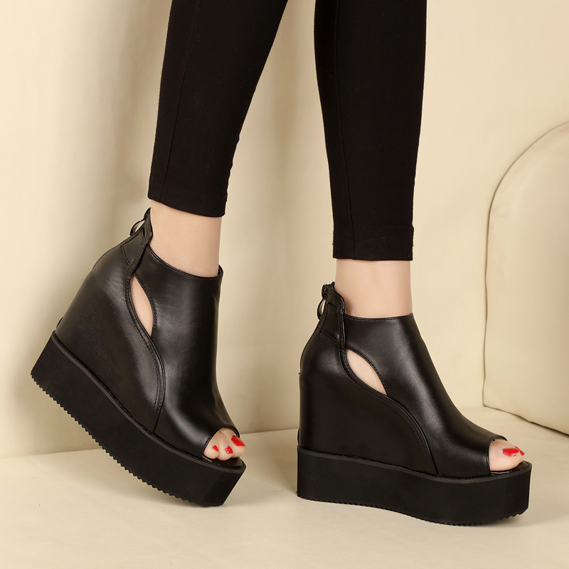 Women Summer Shoes Fashion Womens Shoes Heels And Wedges Ladies Shoes  Korean Style Shoes For Women High Heels Sandals<br><br>Aliexpress