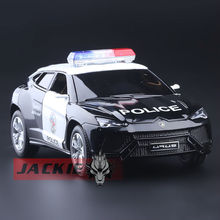 High Simulation Exquisite Diecasts & Toy Vehicles: KiNSMART Car Styling URUS SUV Police CCar 1:38 Alloy Diecast Model Toy Car
