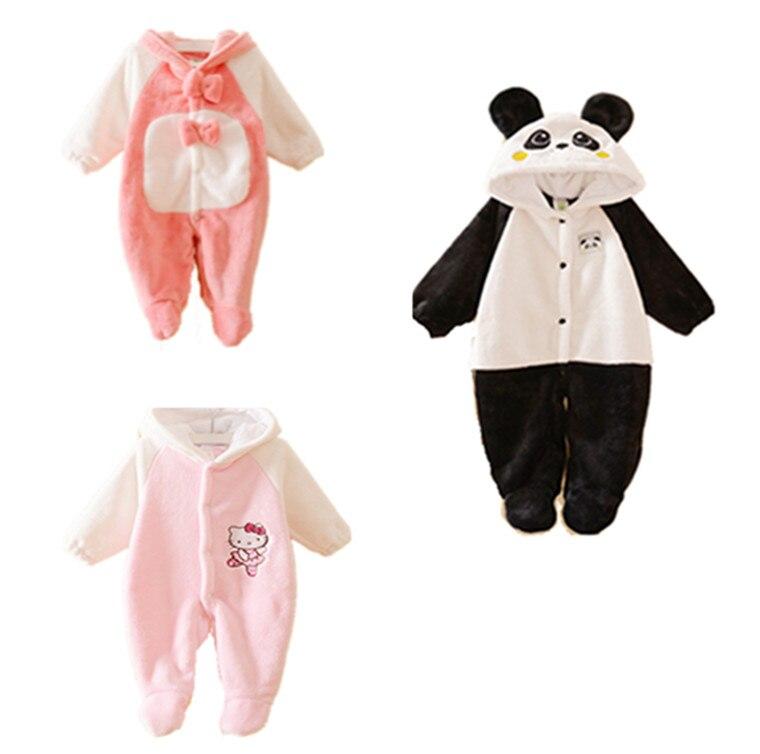 Animal Autumn Winter Rompers Winter Baby Clothes Warm Long Sleeve Fleece Infant Baby Romper Cartoon Winter Jumpsuit Boys Girls <br><br>Aliexpress