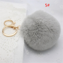 COCOTINA Cute Popular Keychain Imitation Rabbit Fur Keychain Fashionable Female Mobile Phone/bag Pendant Accessories D02515