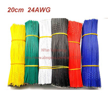 (50pcs/lot) 20cm 200mm 24AWG Colors Double Tinned Tin Plated Electronic Copper Wire Jumper Wire Cable Easy to Welding