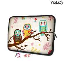 print OWL 7.9 laptop sleeve soft smart notebook bag tablet case 7 mini PC protective shell cover for ipad mini 4 case TB-5797(China)