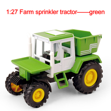 Farm sprinkler tractor toy cars toys for children scale Models the tipping bucket car 1:27(China)