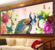 5D DIY Diamond Painting Cross stitch Peacock Needlework Diamond Embroidery swan Pattern Hobbies and Crafts Home Decor Gifts(China)