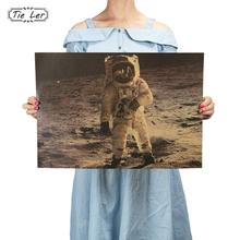 TIE LER Very Precious Photos The Apollo 11 Moon Landing Vintage Poster Retro Kraft Paper Adornment Movie Posters 51.5*36cm