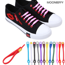 12pcs/lot Shoelaces Novelty No Tie Shoelaces Unisex Elastic Silicone Shoe Laces For Men Women All Sneakers Fit Strap 18 Colors