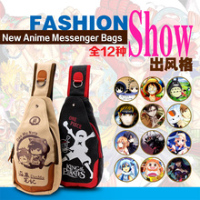 Vintage classic Canvas Shoulder Bags Anime Handbags Casual Messenger Bags Men Girls Travel Bags Totoro NARUTO Attack on Titan