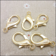 40 pcs  Lobster Clasp Hooks Gold plated  trigger clasps  for necklace bracelet chain DIY,Jewelry Accessory Findings Parts