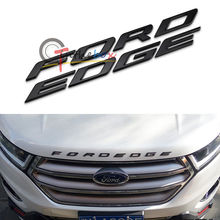 Matte Black Finish Front Hood 3D Letters Stickers Fit For 2014-up Ford Edge