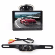 DIYKIT New Car Van Truck Parking IR Night Vision Reversing Camera + 5 Inch Car Monitor Rear View Security System