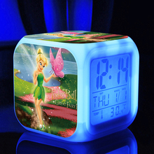 LED Tinker Bell cartoon game action toy figures Night light Electronic Toys Silvermist Pirate Fairy(China)