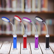 4 Colors Led Light COB Type Magnet LED Light Work Desk Lamp Battery Operated With Flexible Gooseneck(China)