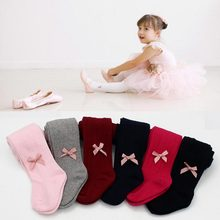 Newborn Baby Girls Bowknot Tights Toddler Kids Stockings Bow Cotton Warm Pantyhose hosiery Little girl Tights 0-24M(China)