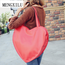 Hot Red Heart Shape Women Hand Bag PU Leather Bags Handbags Women Famous Brand Shoulder Bags Big Ladies Women Handbag Bolsa(China)