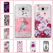 "For Samsung Galaxy J7 2016 Case Back Cover 3D Printing Flower Silicone Fundas For Samsung J7 2016 5.5"" J7108 J7109 Phone Cases"