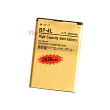 Cisoar 3030mAh BP-4L Gold Replacement Battery For Nokia E61i E90 6650/F/T E63 E71/X E72 E73 N97 E95 6790 E52 E55 6760/s N97i