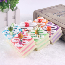 New High Artificial Cake Simulation Fake Food Cream Small Triangular Cake Fridge Magnet Pictures Props